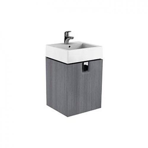 Шкафчик под умывальник 50 см с одним ящиком, серебряный графит