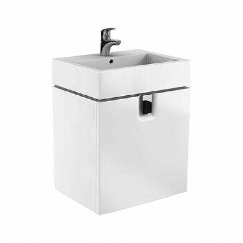 Шкафчик под умывальник 60 см с одним ящиком, белый глянец